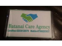 Batanai Care Ltd is recruiting cares to work in Lambdth ,Southark and Croydon areS