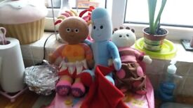 3 toys from in the night garden.
