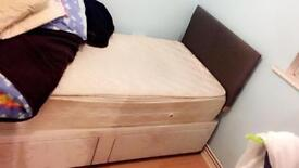 Single bed with two spacious drawers + memory foam mattress
