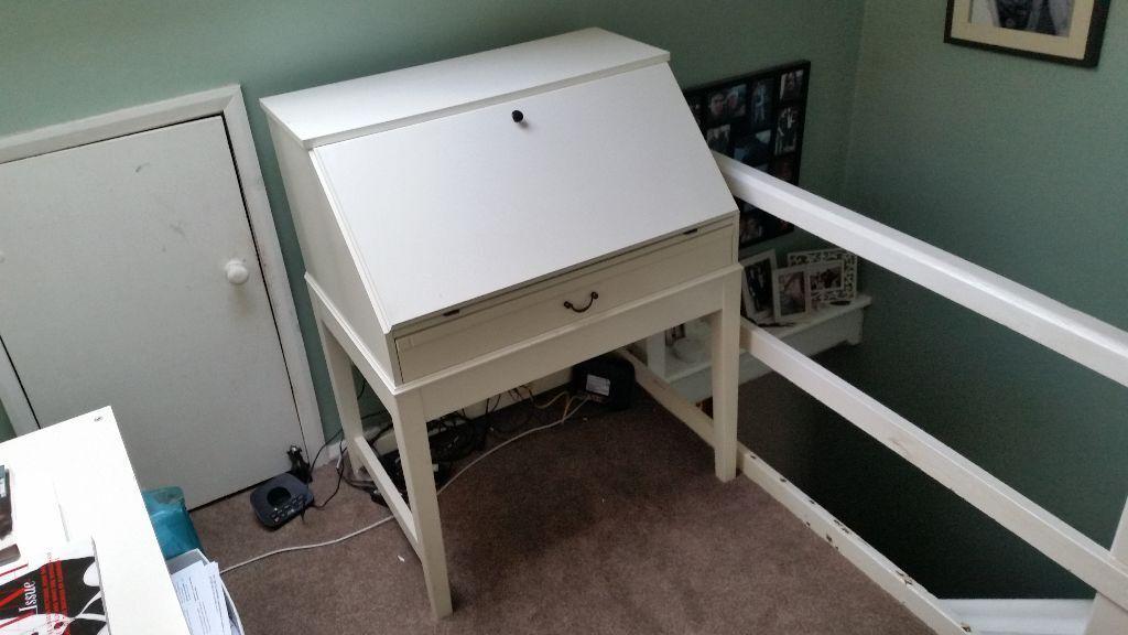 Bureau desk white ikea furniture office home study table in