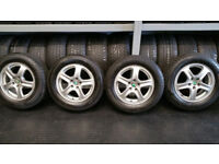 Skoda,VW Genuine 15 alloy wheels + 4 x tyres 195 65 15