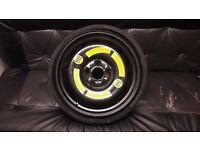 Audi Q7 spare space saver wheel