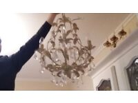 Crystal chandeliers for sale shabby chic