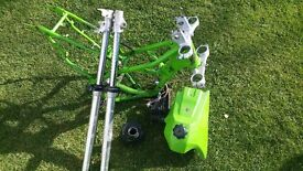Kx 100 parts frame forks tank and radiator