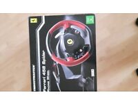 Racing wheel compatible with x box one. Only used handful of times, in box great condition.