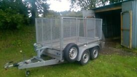 Heritage 8 x 4 trailer with winch ramps and Mesh kit 2008 like Ifor / Bateson