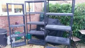Collapable shelves garage shed etc