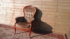 Antique queen anne chair