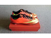 Nike Mercurial Vapor IX FG Boots Sunset/Total Crimson UK Size 11 (New)