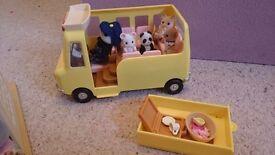 Sylvanian Families Nursery and School Bus