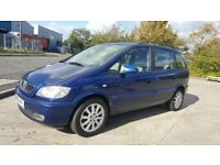 2004 54 REG VAUXHALL ZAFIRA 2.0 DTI DIESEL ELEGANCE 7 SEATER COMES WITH 12