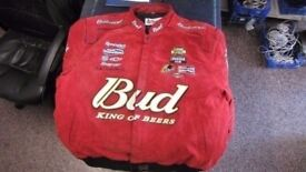 CHASE RED LEATHER NASCAR JACKET