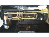 ROSETTI STUDENT TRUMPET - HARDLY USED IN MINT CONDITION. SOLD WITH TRUMCOR STEALTH PRACTICE MUTE