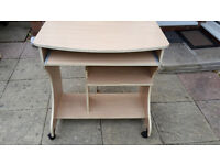 Used Beech Wood Workstation Desk For Sale