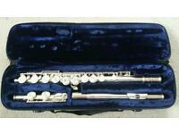 Trevor James Silver Flute in good working condition with original case