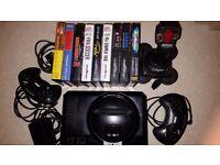 Sega Mega Drive High definition. 2 controlers and joystick. 11 games