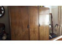 Stunning large vintage 3 door wardrobe, needs a new home