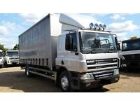 2004 DAF CF 65.220 4X2 CURTAIN SIDER SIDED TRUCK WITH TAIL LIFT SCANI AMAN TIPPER PARTS FOR SALE MAN