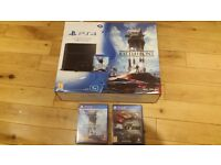 Playstation 4 plus games, 1TB model, boxed in perfect condition, hardly used
