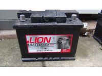 60 Ah car battery with Halfords digital charger for extra price