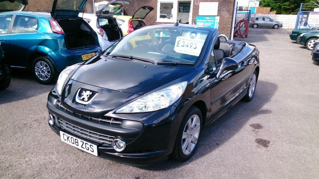 Sold 2008 Peugeot 207 Cc Convertible Black April 2017
