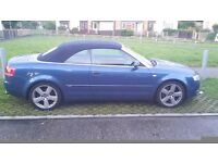 SWAP OR SELL!!! 2007 AUDI A4 3.2 S LINE QUATTRO CONVERTIBLE