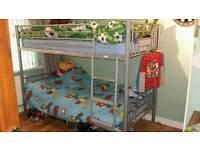 Metal frame bunk beds with mattress