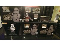 Gentle Giant clone trooper busts, set of 5 and atte armour. Boxed with coa's