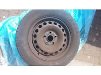 VW Audi Skoda Seat 5x112 Steel Wheel Set on great KETER 195/65/15 91H Steelies with Tires Tyres VAG