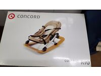 Concord Rio - baby rocker and feeder. Made in Germany, beautifully made, nice and solid.