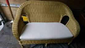 Conservatory wicker 2seater sofa