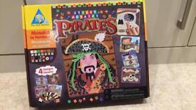 Pirate crafts - mosaics and make it ship