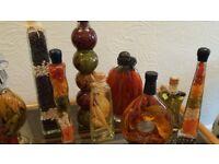Various Kitchen herb glassware