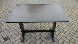 Solid Hardwood Dining Table Antique Pub Style Good Condition