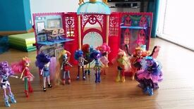 Equestria Girls High School + 11 dolls
