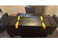 40 inch hardware case for sale with wheels in good condition
