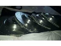 Audi Q7 drilled grooved brake discs