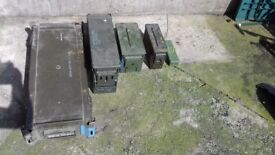 Ex Army storage containers, green, metal, lockabkle,sealed,heavy duty