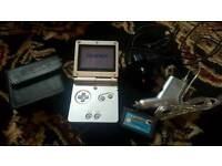 Nintendo Game Boy SP Advance Silver Bundle