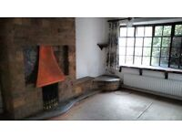 Dismantled stone fireplace