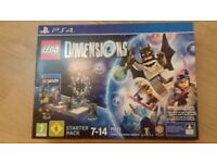 LEGO DIMENSIONS PS4 STARTER PACK 71171 BOXED COMPLETE WITH BATMAN WYLDSTYLE BATMOBILE & GANDALF