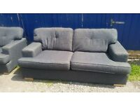 3 seater dfs grey and 1 seater chair