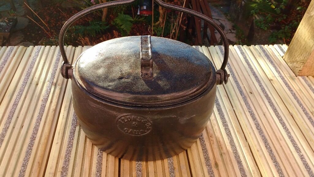 Antique Ex Military Cooking Pot Cast Iron 40s 50s?
