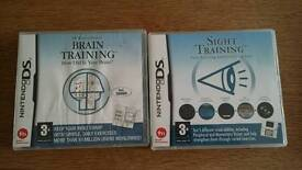 Nintendo ds. sight and brain traning