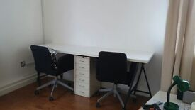 200cm Desk with Metal Trestles - GREAT CONDITION
