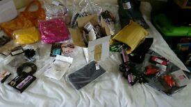Large lot of hair, make up, bags, gift set stock