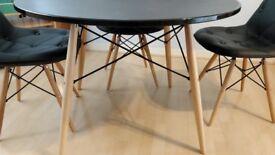 DSW / Eiffel / Charles Eames inspired black dinner table