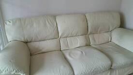 FREE DFS cream leather sofa
