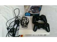 Ps3 slim 500GB. with original controllers. including a headphones