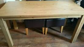 Pine 6 seater table